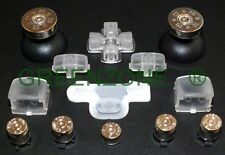 PS3 Controller Full Clear  Mod Kit, Silver Bullet Buttons + Thumbs + Home