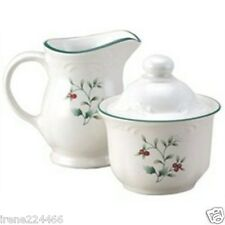 Pfaltzgraff 3 pc Winterberry Sugar 1 cup and Creamer 12oz  Set $40