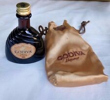 GODIVA LIQUEUR MINIATURE BOTTLE WITH POUCH. EMPTY.