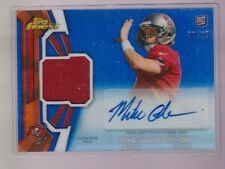 2013 Topps Finest Mike Glennon Blue Refractor Auto Jersey Rc Serial # to 99