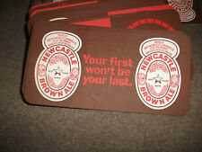 60 NEW NEWCASTLE BROWN ALE BEER MATS-18CMS BY 9CMS