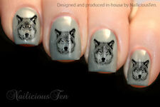 Wolf Design Nail Art Wraps Water Transfers 21pcs Decals ST8136