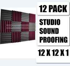 Studio Sound Proofing Acoustic Wedge Foam Tiles Wall Panels Vocal Booth 12 1 2 x