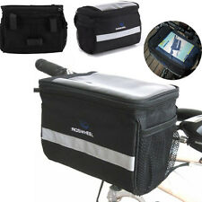 Bicycle Bike Double Pannier Mountain Frame Front Tube Tool Mobile Holder Bag