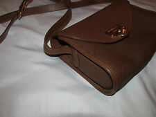 vintage NINA RICCI monogram coated canvas brown crossbody messenger bag MINT