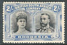 Rhodesia 1910 black/dull-blue 2/- mint SG154