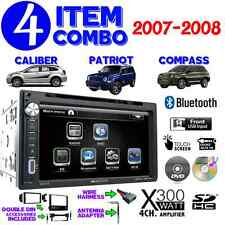 07 08 COMPASS CALIBER PATRIOT TOUCHSCREEN DVD BLUETOOTH DOUBLE DIN CAR STEREO