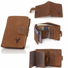 Luxury Mens Wallet Leather Boutique Trifold Business Credit Card Coins Purse New