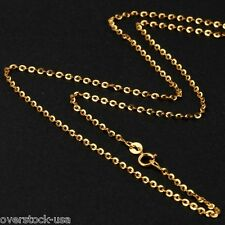 ONSALE 17.7INCH 18K Yellow Gold Necklace Special O Link Chain