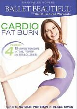Ballet Barre Cardio & Toning DVD Ballet Beautiful Cardio Fat Burn - 4 Workouts!