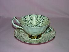 Queen Anne Wedding Anniversary Bone china Cup and Saucer England