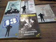 Lot de 5 livres de Steeman le mannequin assassiné La morte survit au 13 Crimes