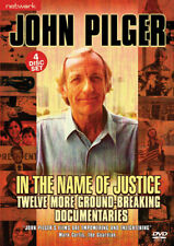 John Pilger IN THE NAME OF JUSTICE. 12 documentaries. 4 discs. New sealed DVD.