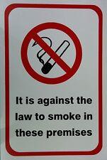 Es contra el derecho a fumar en estas premisas A4 20x30cm Autoadhesivas Signo