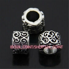 P387 12pc Tibetan Silver Charm Flowers String Spacer Beads accessories wholesale