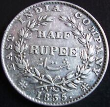 "BRITISH INDIA KING WILLIAM IIII ""1835"" HALF RUPEE SILVER COIN - F INCUSE"