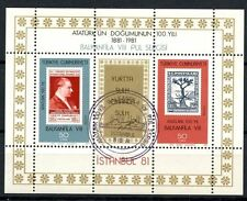 Turkey 1981 SG#MS2749 Balkanfila VIII Stamp Exhibition Cto Used M/S #A35794