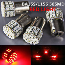 4X BA15S 50 SMD LED - BRIGHT Red 1156 Brake Reverse Light Bulb Globe Lamp 12V