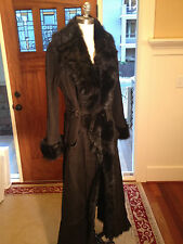 ROBERTO CAVALLI  BLACK FOX AND SHEARED BEAVER AND LEATHER NEW WITH TAGS- MINT!