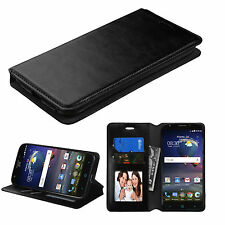 For Samsung Galaxy Mega 6.3 Wallet Flip Pouch Cover Case ID Card Holder Black