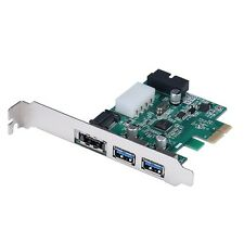 Power eSATA II & USB 3.0 HUB Combo PCI-E Card with Motherboard 20 pin Connector