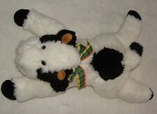 Just Friends Plush Floppy Cow Chosun White & Black Stuffed Soft Toy 1996 22""