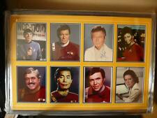 STAR TREK LEONARD NIMOY, WILLIAM SHATNER, DEFOREST KELLEY CAST SIGNED JSA COA