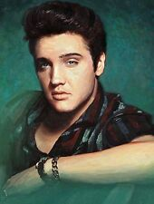 "A4 Poster -  Laminated ""ELVIS PRESLEY"" Painting Print (New)"