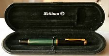ASTONISHING BOXED PELIKAN M400 FOUNTAIN PEN-14k BROAD FLEXY NIB- GREEN STRIATED=