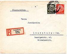 III.Reich, R-Brief, Lauenburg !