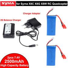 Mejorado 7.4V 2500mAh Batería+2S 2in1 Cargador Del Balance De Syma X8HW X8HC
