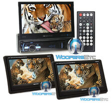 "pkg SOUNDSTREAM VR-75B 7"" CD DVD BLUETOOTH CAR STEREO + (2) VHR65T 6.5"" SCREENS"