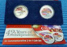 2007 Singapore 42 Years of Independence 2-IN-1 NDP Commemorative Coin Set