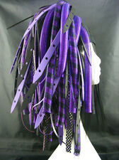 CYBERLOXSHOP PURPLEWEB CYBERLOX CYBER HAIR FALLS DREADS GOTH RAVE PURPLE BLACK