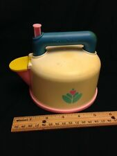 Vintage 1987 Pink Fisher Price Fun With Food Whistling Tea Kettle Pot Toy GUC