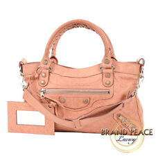 Balenciaga giant first 2-Way bag leather coral pink 240577 Free Shipping