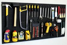 Wall Mount Pegboard Tool Organizer Kit Peg Board Hooks Garage Storage New #24242