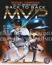 Miguel Cabrera Detroit Tigers MLB 2013 MVP LICENSED Picture 8X10 Baseball PHOTO