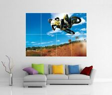 MOTOCROSS DIRT BIKE JUMP GIANT WALL ART PICTURE PRINT PHOTO POSTER J118