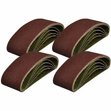 20 x SANDING BELTS 75MM X 533MM MIXED GRADE 40 60 80 120 GRIT SANDER 75 533 3""