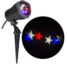 New Gemmy Indoor/Outdoor Red,White,Blue Swirling Stars,LED Projection Light Show