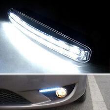 2Pcs 12V White 8LED Car Driving Daytime Running Fog Light Bumper Lamps DRL