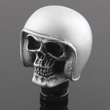 Rider Helmet Human Wicked Skull Head Stick Shift Knob Shifter Gear Universal