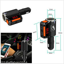 Wireless Bluetooth FM Transmitter Modulator Car Kit MP3 Player USB Charger A2DP