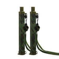 2 PCS Camouflage Safe Water Drink Straw 99.99999% Water Filter Purifier Kit