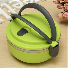 1 Layers Stainless Steel Thermal Insulated Lunch Box Bento Food Container Handle