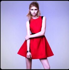 NWT Prabal Gurung For Target Apple Red black dress Full Skirt Tulle Pockets 2 XS