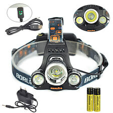 8000Lm 3x XM-L T6 LED Cabeza Linterna Luz Frontal USB LÁMPARA Headlamp 2X 18650