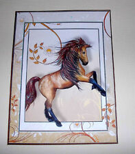 Handmade Greeting Card 3D All Occasion With A Horse