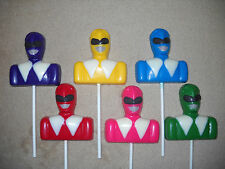 1 Chocolate Power Ranger Bust Super Hero purple molded Lollipop Lollipops Favors